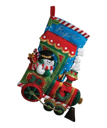 Candy Express Stocking Embroidery Kit