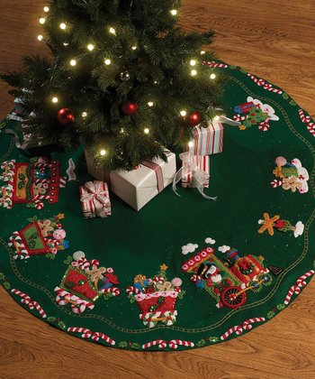 Candy Express Tree Skirt Embroidery Kit