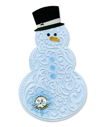 Snowman & Hat Bigz Die & Textured Impression Set