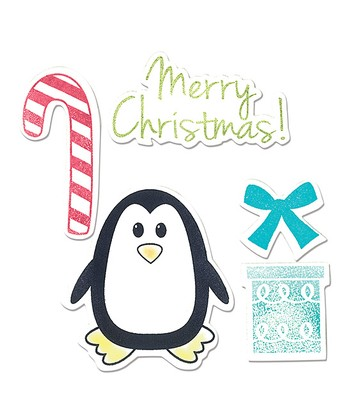 Penguin & Candy Cane Framelits Die & Stamp Set