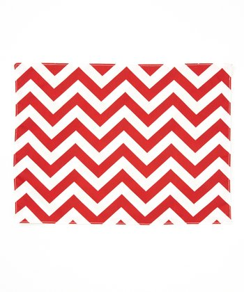 Red & Lime Zigzag Reversible Place Mat - Set of Four