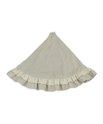Natural Ruffle Linen Tree Skirt