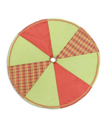 Crimson & Cactus Gingham Tree Skirt
