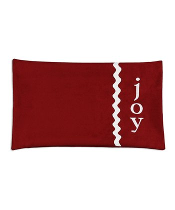 Lime 'Joy' Rickrack Throw Pillow