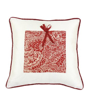 Off-White Mardi Gras Berry Present Throw Pillow