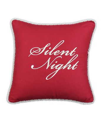 Red 'Silent Night' Circa Linen-Blend Throw Pillow