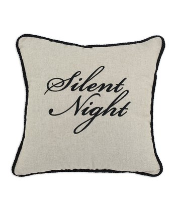Khaki 'Silent Night' Wisdom Linen-Blend Throw Pillow
