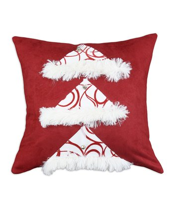 Red & White Joker Santa Hat Throw Pillow