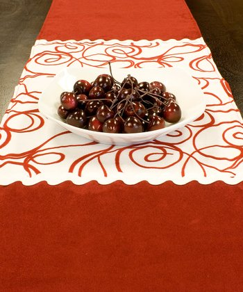 Red & White Joker Table Runner