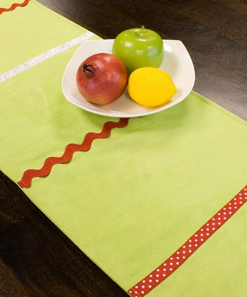 Lime Stripe Table Runner