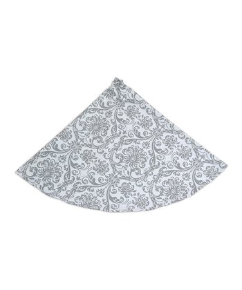 Gray & White Abigail Tree Skirt