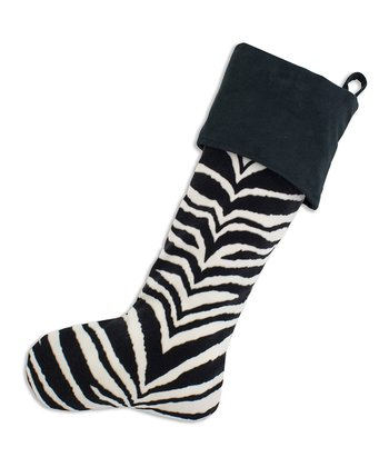 Black & White Zebra Simply Soft Stocking