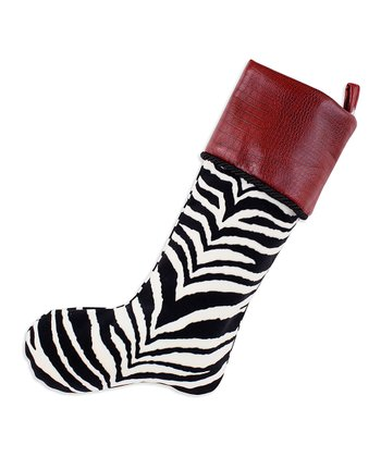 Black & Red Zebra Simply Soft Stocking