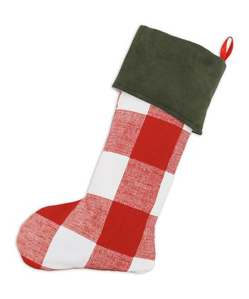 Red & White Victory Lane Checkerboard Stocking