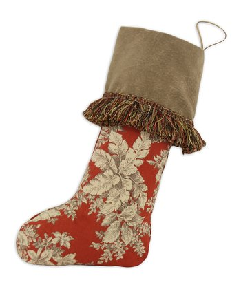 Orange & Tan Leaf Fringe Stocking