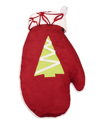 Red & White Joker Mitten Stocking
