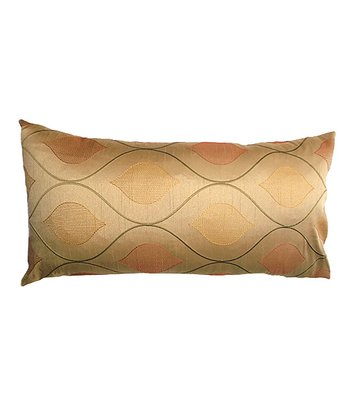 Gold Wave Holiday Down Throw Pillow