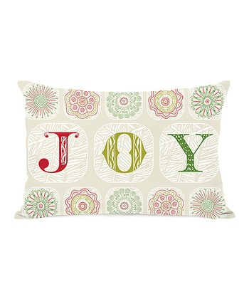 Ivory 'Joy' Boho Throw Pillow