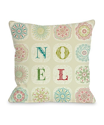 Ivory 'Novel' Boho Throw Pillow