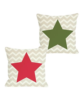 Zigzag Star Reversible Throw Pillow