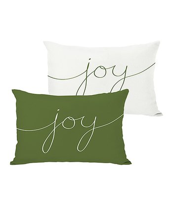 Ivory & Green 'Joy' Mix & Match Throw Pillow