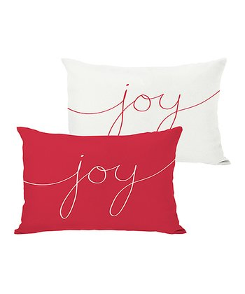 Ivory & Red 'Joy' Mix & Match Throw Pillow