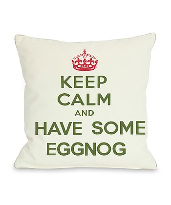 Ivory & Green 'Have Some Eggnog' Throw Pillow