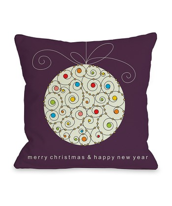 Eggplant Ornament - Set of Two Throw Pillow