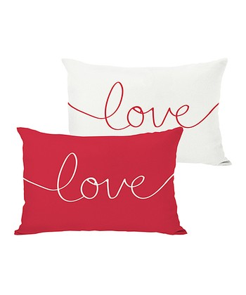 Ivory & Red 'Love' Mix & Match Throw Pillow