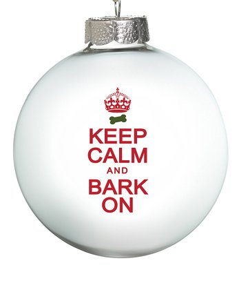 White 'Bark On' Ornament - Set of Two
