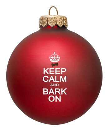 Red 'Bark On' Ornament - Set of Two
