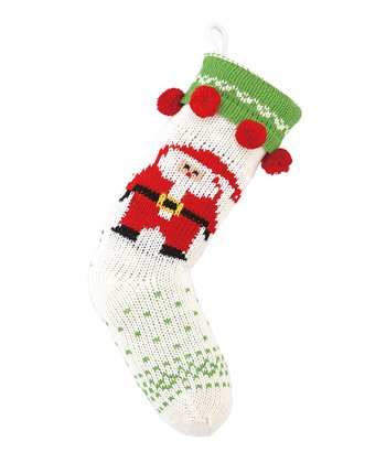Santa Claus Jacquard Knit Stocking