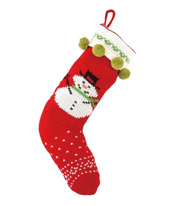 Snowman Jacquard Knit Stocking