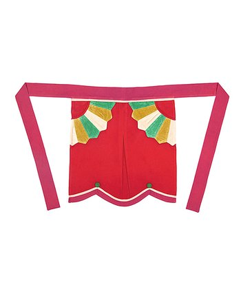 Star Holly Berry Holiday House Half Apron