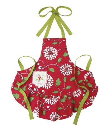 Merry Snow Flower Apron