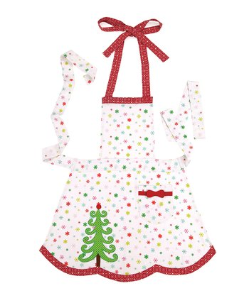 Polka Dot Christmas Tree Apron