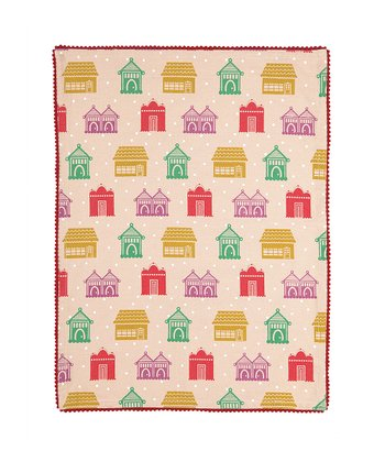Holly Berry Holiday House Kitchen Towel
