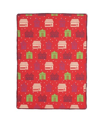 Holly Holiday House Kitchen Towel