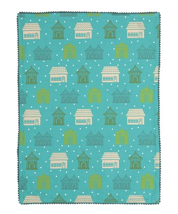 Blue Holiday House Kitchen Towel