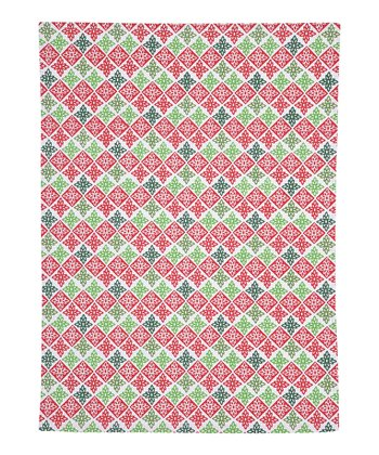 Red & Green Flurry Kitchen Towel