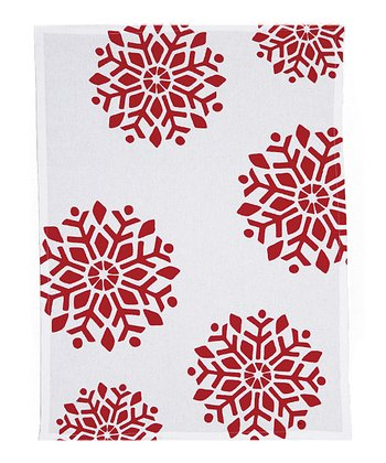 Joy Large Snowflake Kitchen Towel