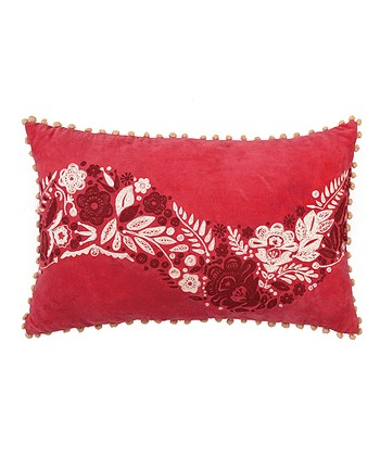 Flower Holly Berry Holiday House Throw Pillow