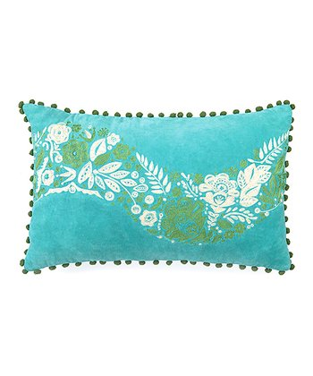 Blue Spruce Flower Holiday House Throw Pillow