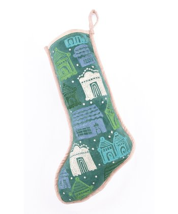 Blue Spruce Holiday House Stocking