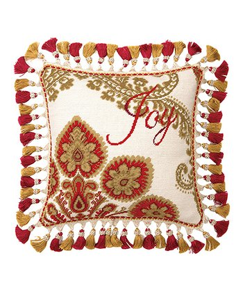 'Joy' Christmas Manor Throw Pillow