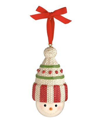 Crochet Hat Snowman Bell Ornament