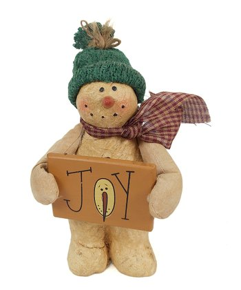 'Joy' Snowman Figurine