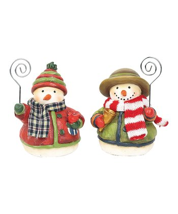 Little Bird Snowman Picture Holder Set