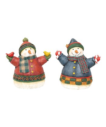 Little Bird Snowman Figurine Set