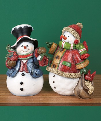 Holiday Snowman Figurine Set